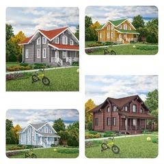 Как выбрать цвет стен, окон, наличников, свесов загородного дома и бани