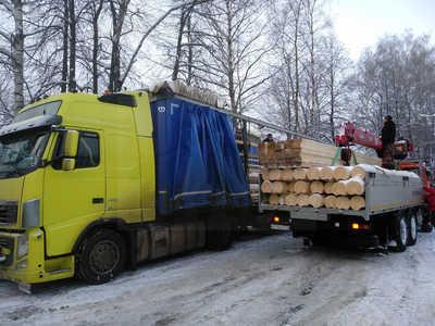 Фотоотчет строительства деревянного дома из бревна 260 мм в Солнечногорском районе