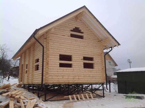 фундамент винтовые сваи дома с мансардой #395