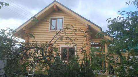 Фото бань 4х6 по проекту #589: окна на мансарде