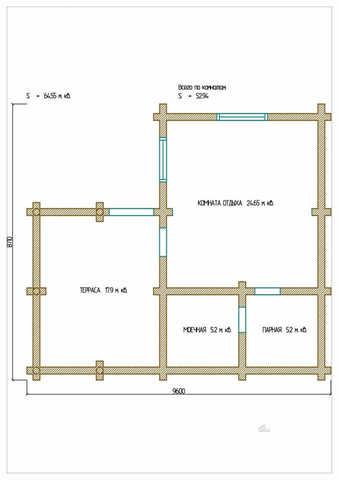 План первого этажа проекта с террасой #485