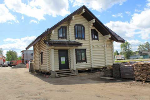 жилой дом из оцилиндрованного бревна #633 для постоянного проживания